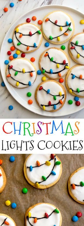 Christmas Cookies: Christmas Lights Cookies