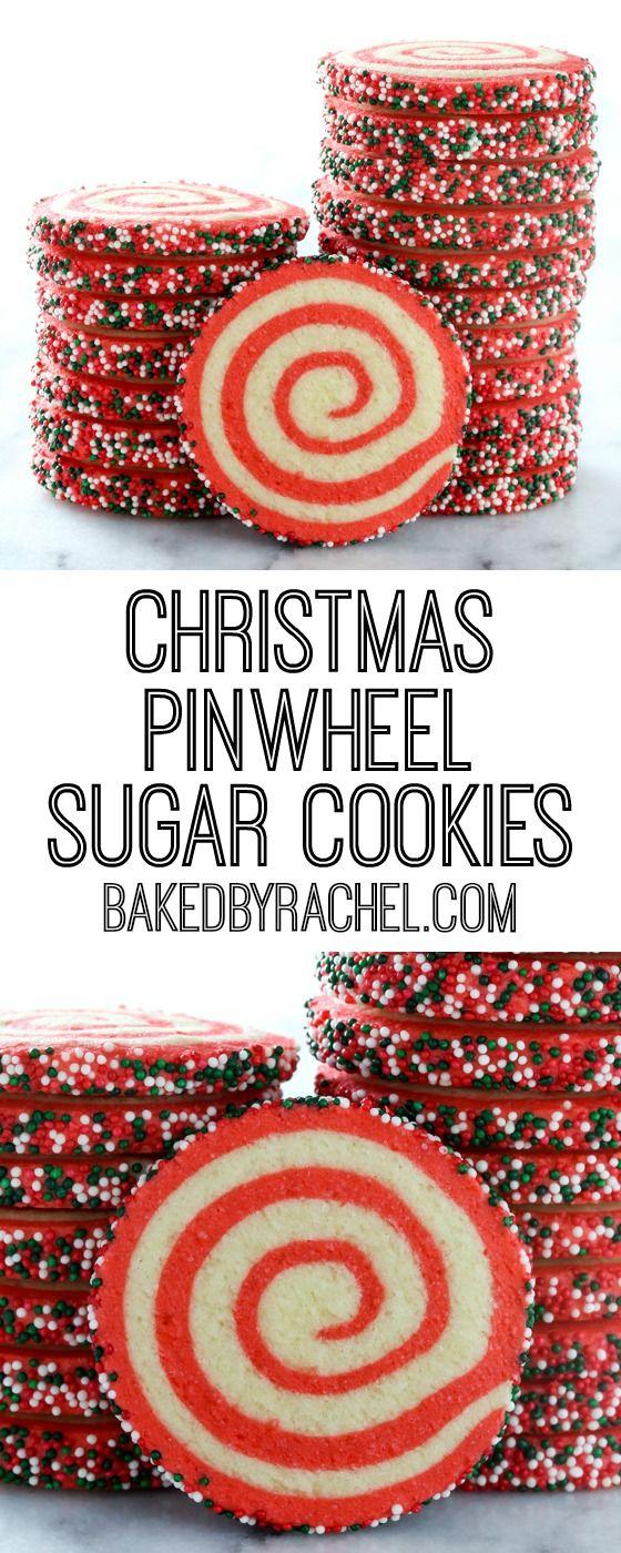 Christmas Cookies: Christmas Pinwheel Sugar Cookies