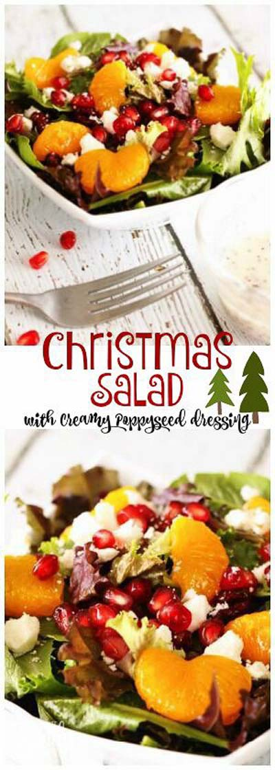 Christmas Dinner Recipes: Christmas Salad with Creamy Poppy Seed Dressing