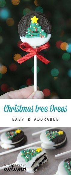 Christmas Cookies: Christmas Tree Oreo Pops