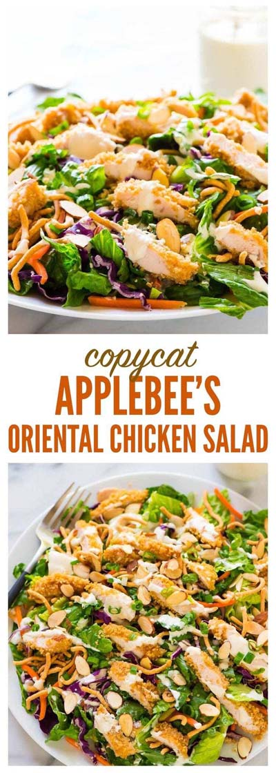 Healthy salad recipes: Copycat Applebees Oriental Chicken Salad