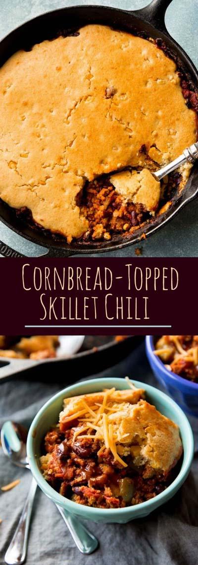 Chili Recipes: Cornbread-Topped Skillet Chili