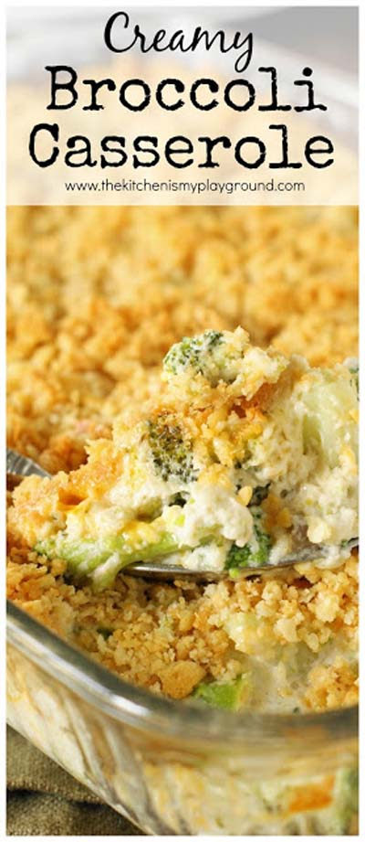 Christmas Dinner Recipes: Creamy Broccoli Casserole