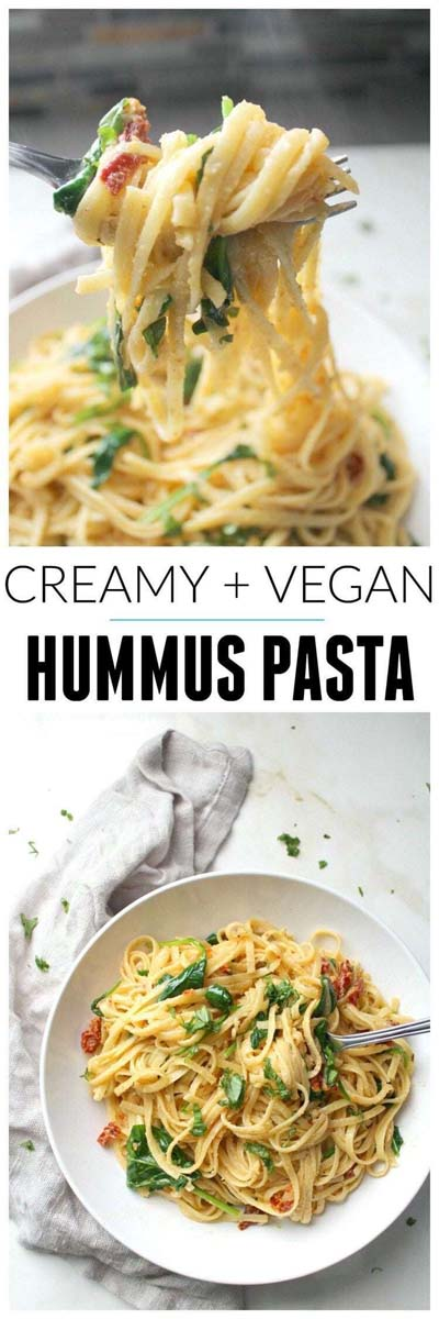 Vegan Pasta Recipes: Creamy & Vegan Hummus Pasta