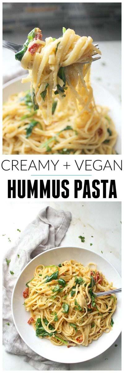 Vegan Pasta Recipes: Creamy & Vegan Hummus Pasta