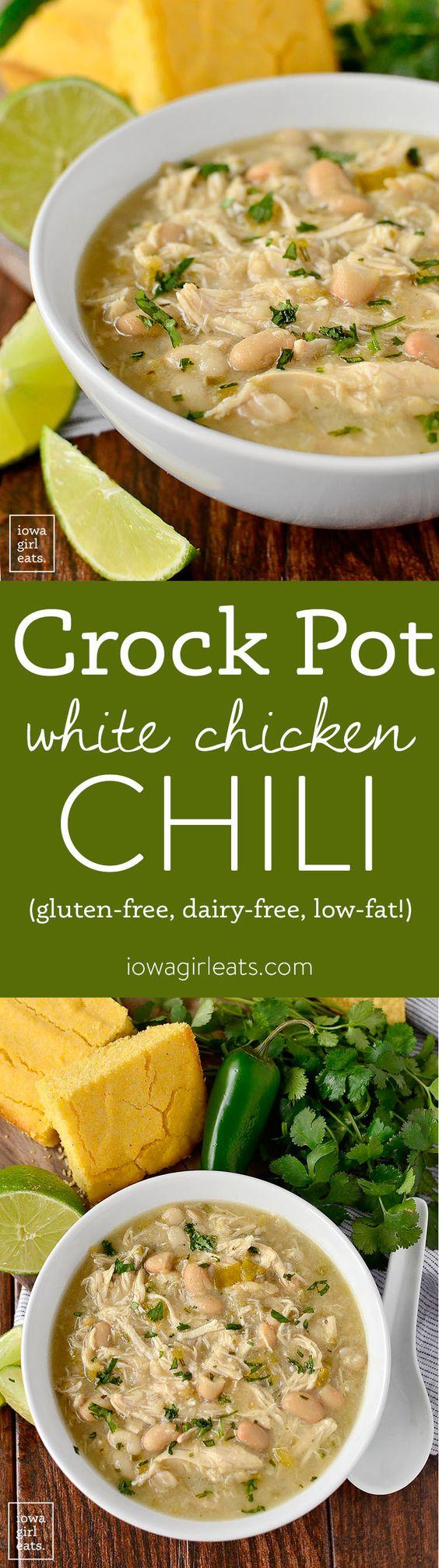 Chili Recipes: Crock Pot White Chicken Chili