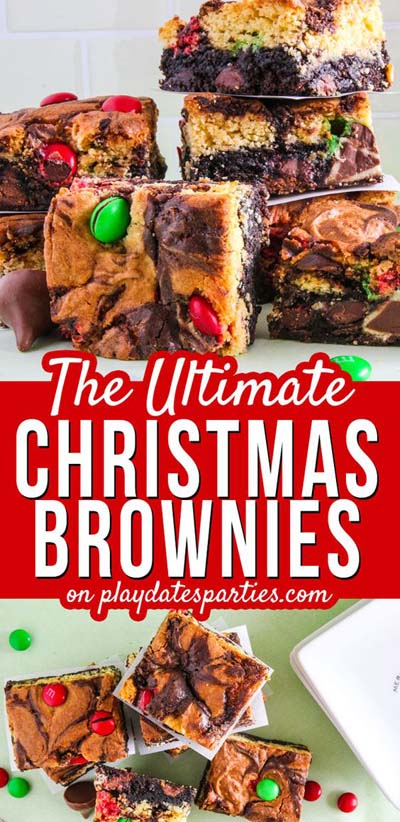 Christmas Brownie Recipes: Double Decker Triple Stuffed Christmas Brownies