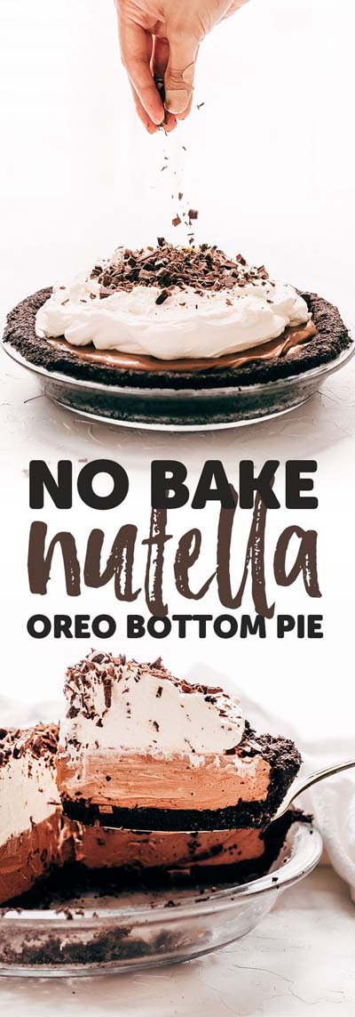 Easiest No-bake Nutella Pie