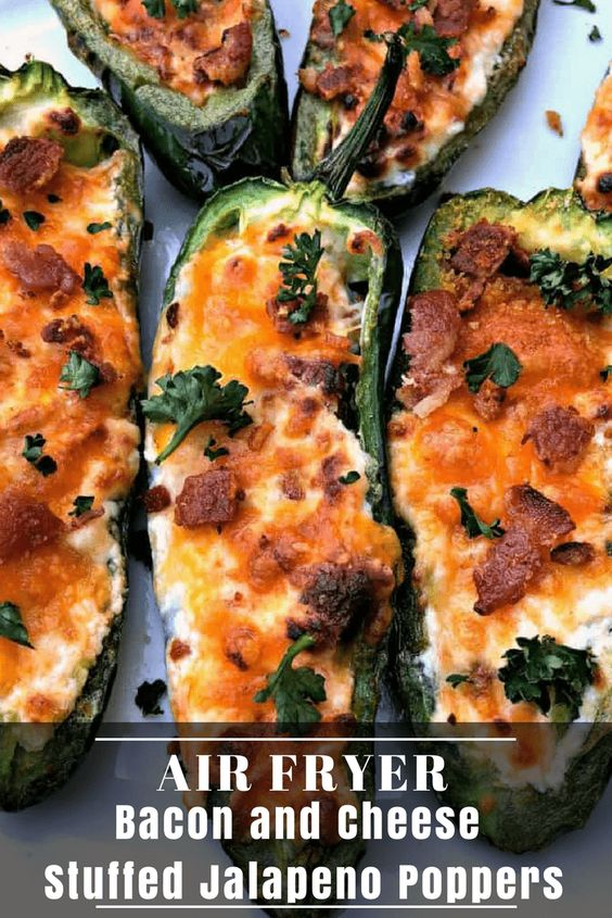 Healthy Air Fryer Recipes: Easy Air Fryer Bacon And Cream Cheese Stuffed Jalapeno Poppers