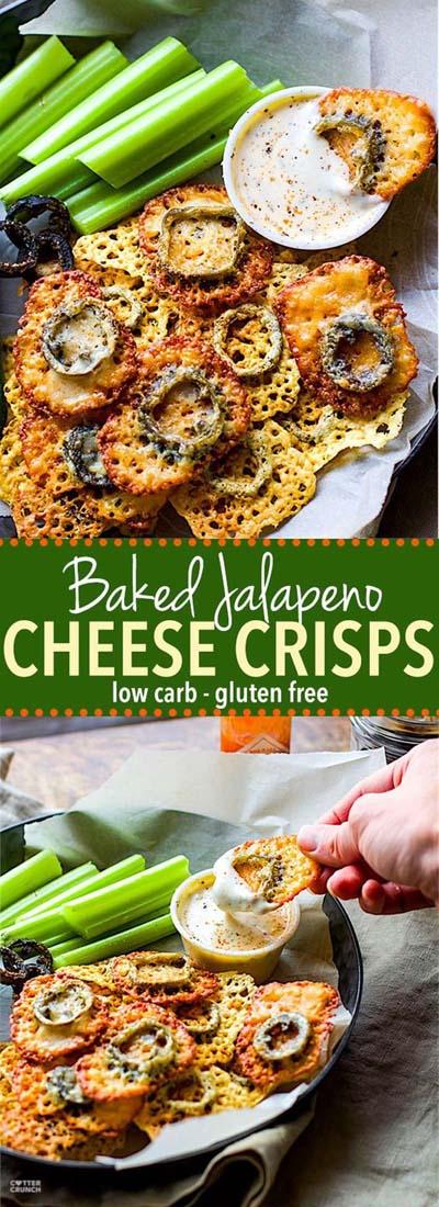 Keto snacks on the go: Easy Baked Jalapeno Cheese Crisps
