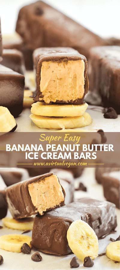 Peanut Butter Desserts: Easy Banana Peanut Butter Ice Cream Bars