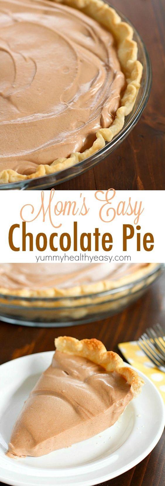 Thanksgiving Desserts: Easy Chocolate Pie Recipe