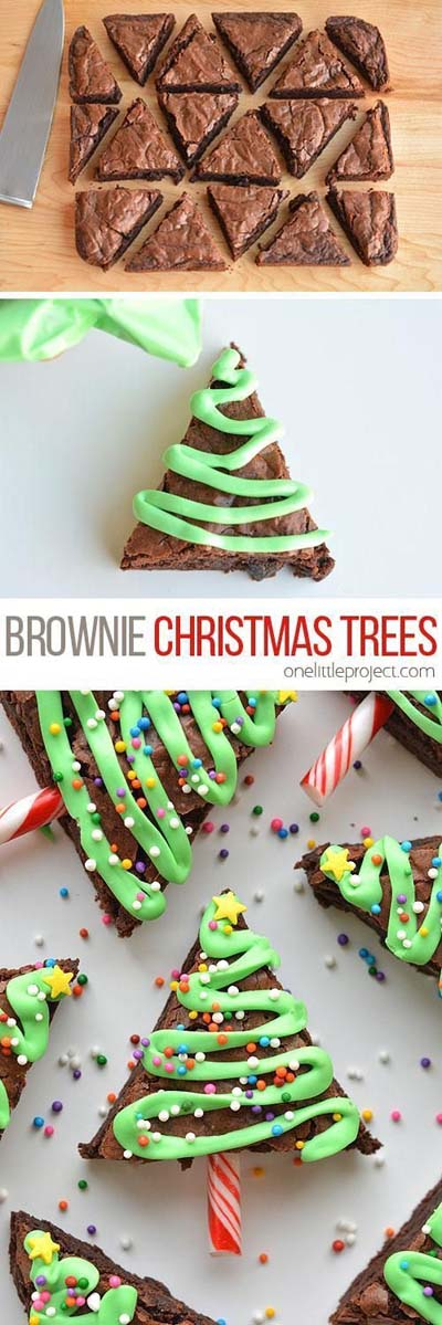 Christmas Brownie Recipes: Easy Christmas Tree Brownies