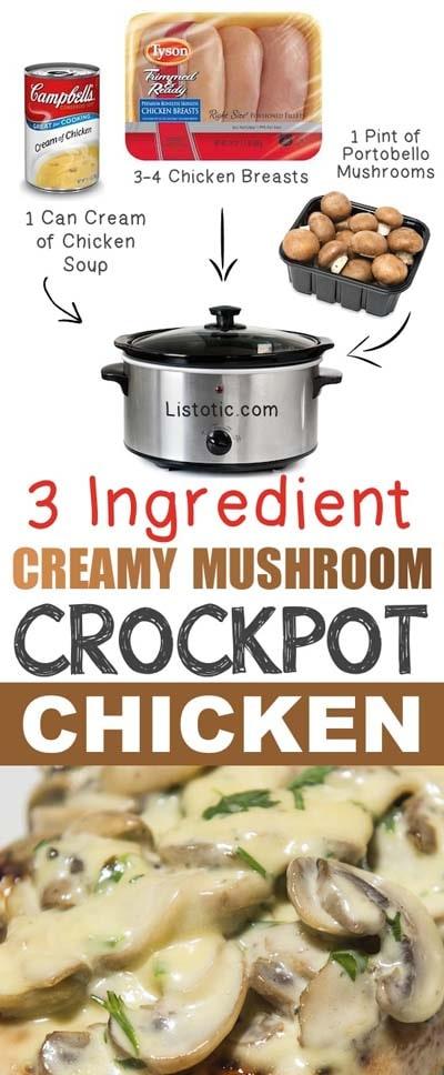 Easy Creamy Mushroom Chicken