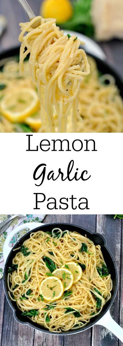 Vegan Pasta Recipes: Easy Lemon Garlic Pasta