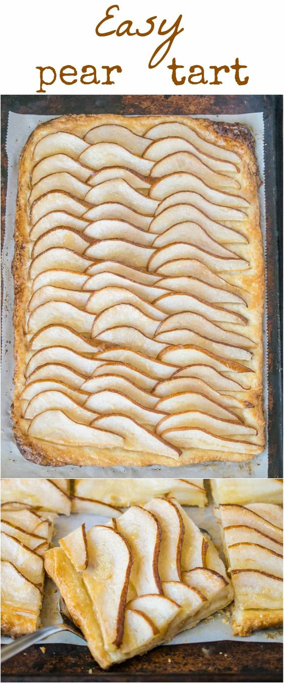 Thanksgiving Desserts: Easy Pear Tart