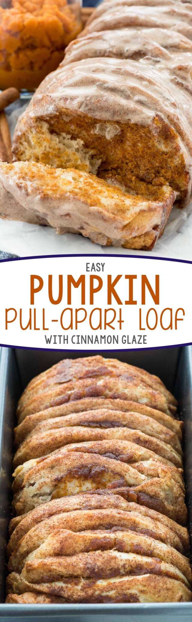 Pumpkin Spice Recipes: Easy Pumpkin Pull-Apart Loaf
