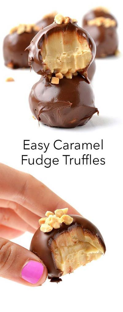 Easy caramel dessert recipes: Easy Salted Caramel Fudge Truffles
