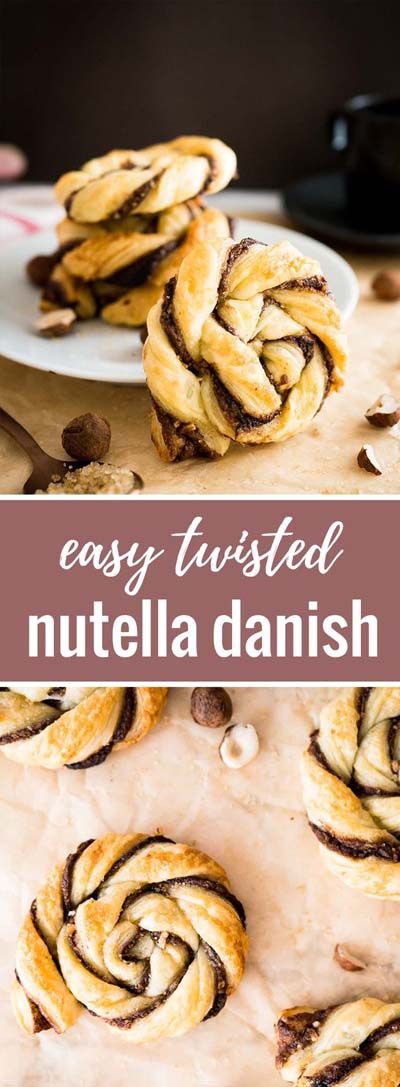 Easy Twisted Nutella Danish Recipe