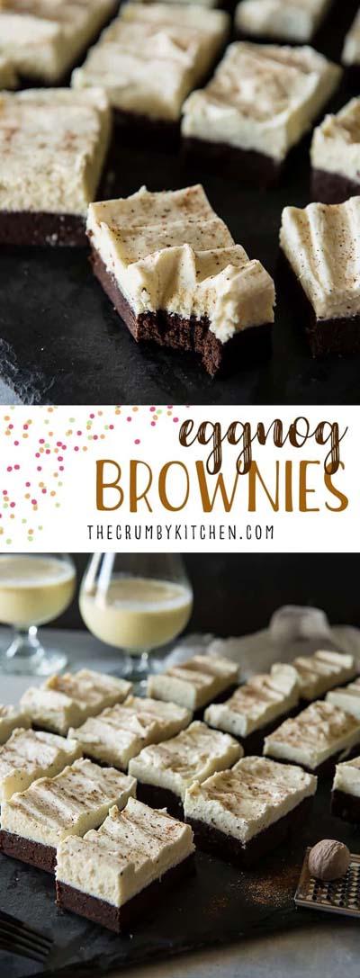 Christmas Brownie Recipes: Eggnog Brownies