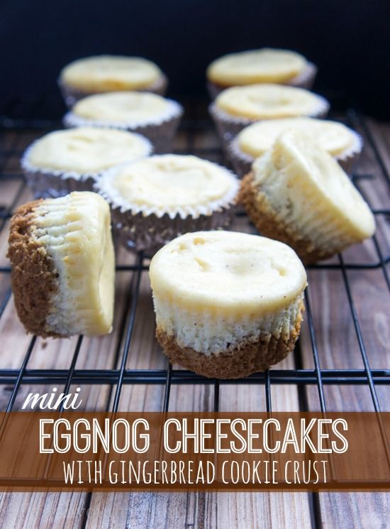 Christmas Gingerbread Recipes: Eggnog Cheesecakes With Gingerbread Cookie Crust