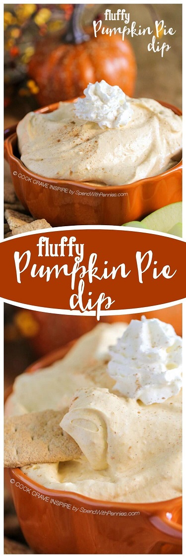 Pumpkin Spice Recipes: Fluffy Pumpkin Pie Dip