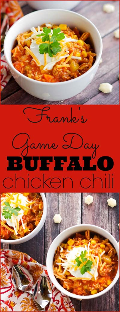 Chili Recipes: Frank's Game Day Buffalo Chicken Chili-min