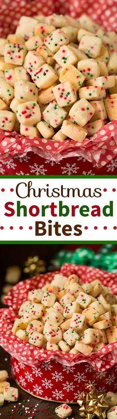 Christmas Cookies: Funfetti Shortbread Bites