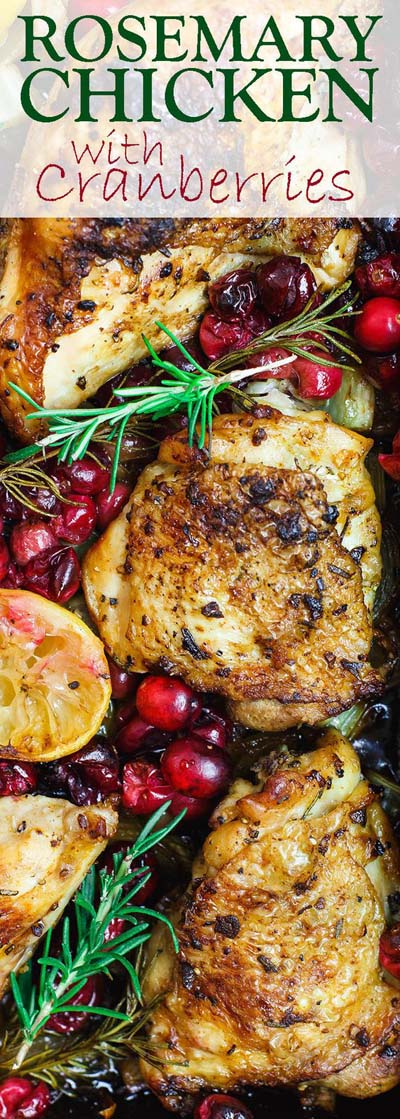 Christmas Dinner Recipes: Garlic Rosemary Chicken With Cranberries