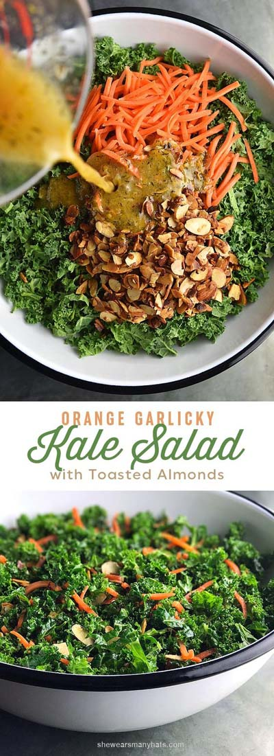 Healthy salad recipes: Garlicky Orange Kale Salad