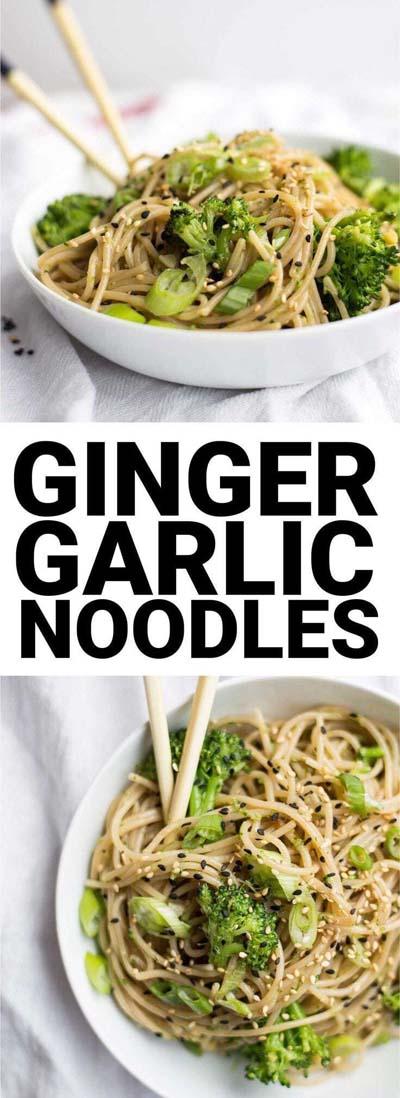 Vegan Pasta Recipes: Ginger Garlic Noodles