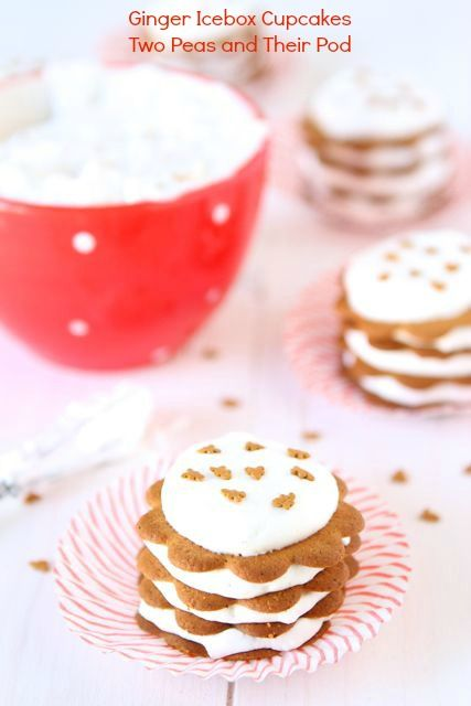 Christmas Gingerbread Recipes: Ginger Icebox Cupcakes
