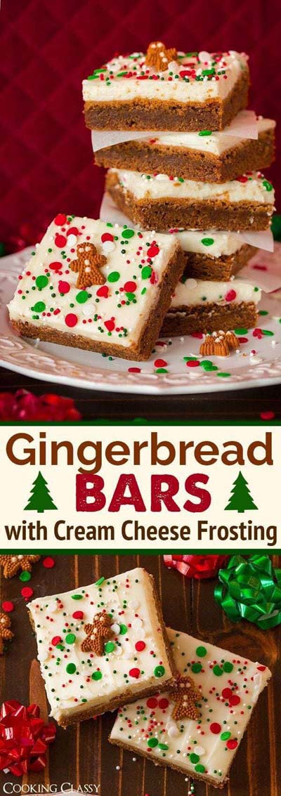 Christmas Gingerbread Recipes: Gingerbread Bars with Cream Cheese Frosting
