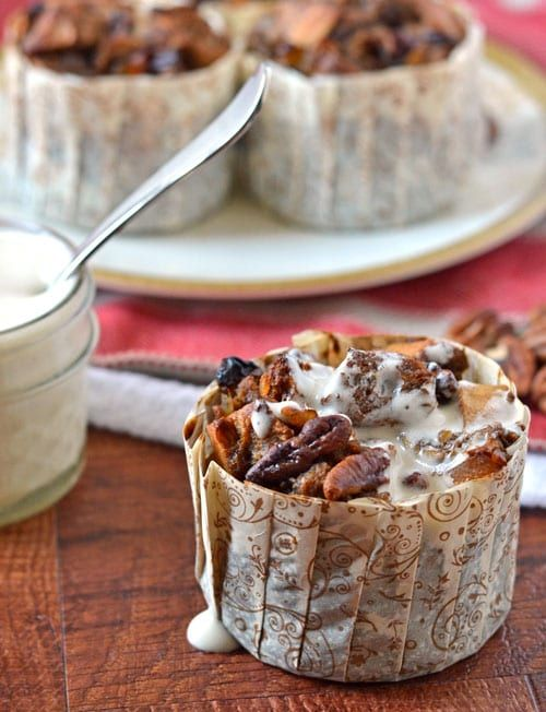 Christmas Gingerbread Recipes: Gingerbread Bread Pudding with Bourbon Sauce