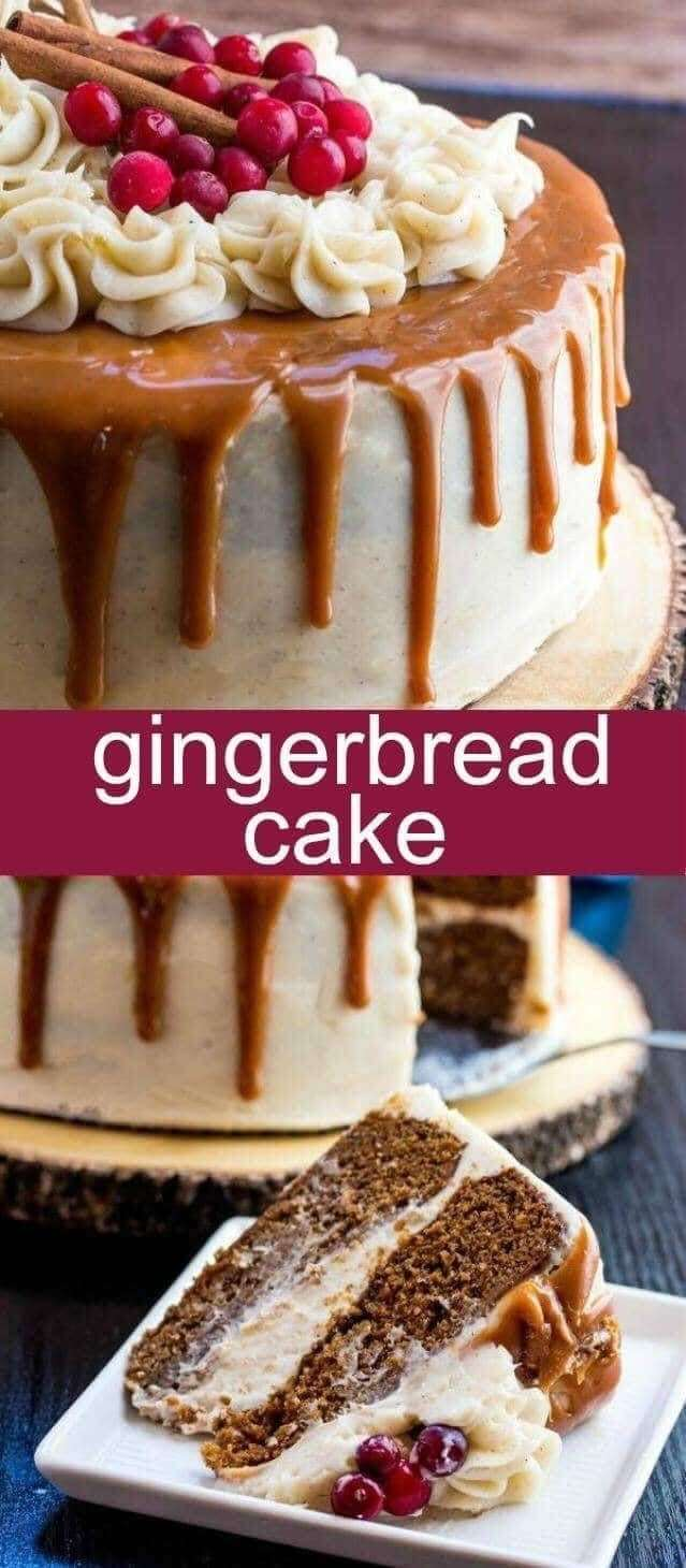 Christmas Gingerbread Recipes: Gingerbread Cake