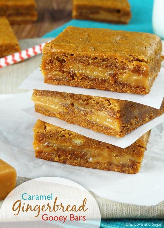 Christmas Gingerbread Recipes: Gingerbread Caramel Gooey Bars
