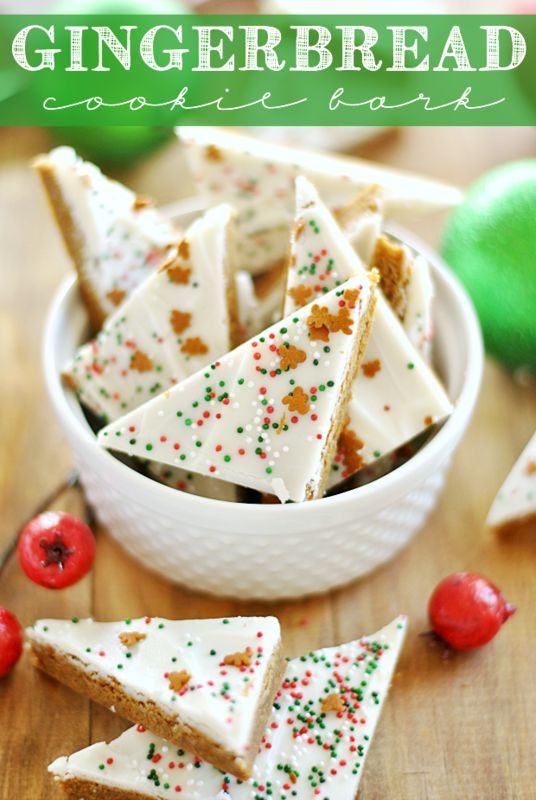 Christmas Gingerbread Recipes: Gingerbread Cookie Bark