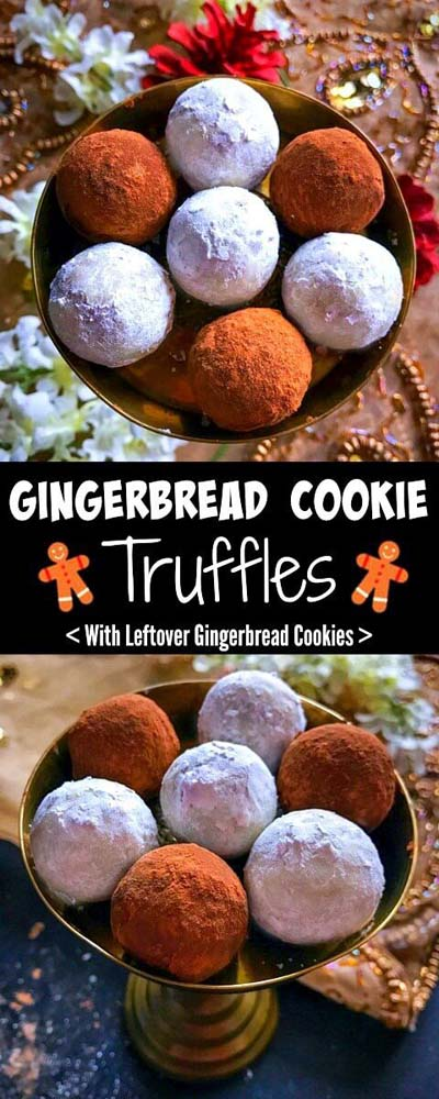Truffle Dessert Recipes: Gingerbread Cookie Truffles