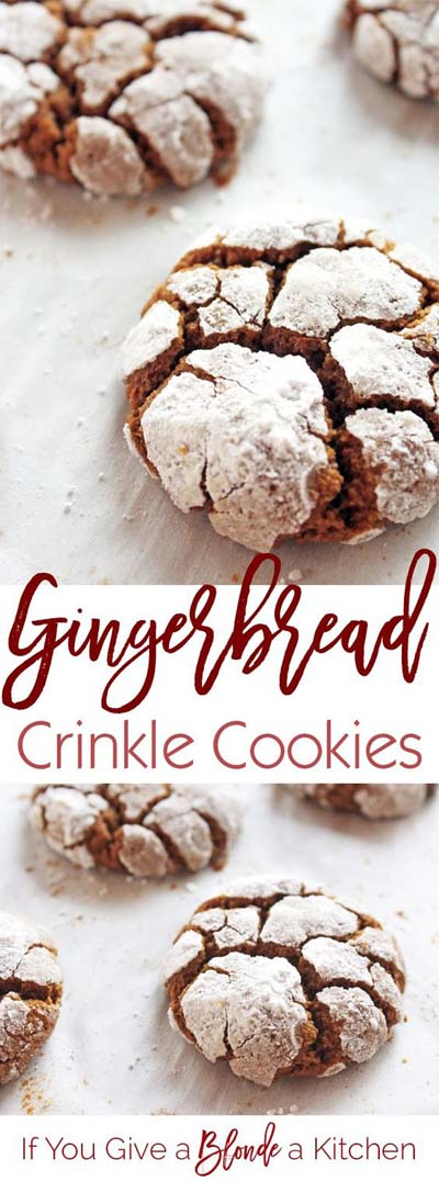 Christmas Gingerbread Recipes: Gingerbread Crinkle Cookies