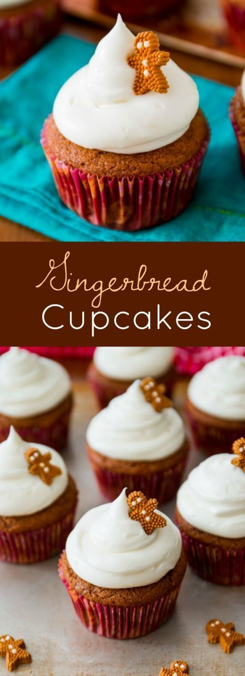 Christmas Gingerbread Recipes: Gingerbread Cupcakes