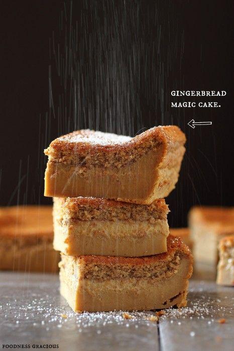 Christmas Gingerbread Recipes: Gingerbread Magic Cake Bars Recipe