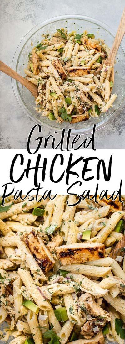 Healthy salad recipes: Grilled Chicken Pasta Salad