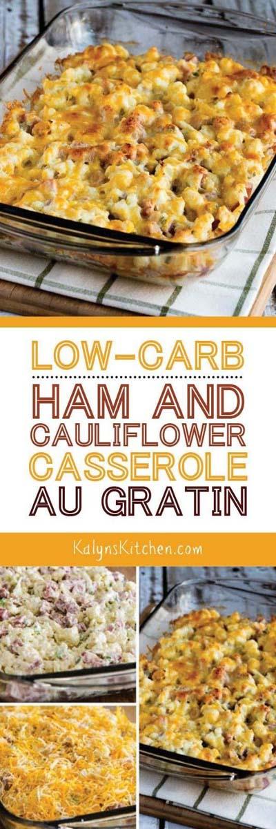 Keto Casserole Recipes: Ham And Cauliflower Casserole Au Gratin