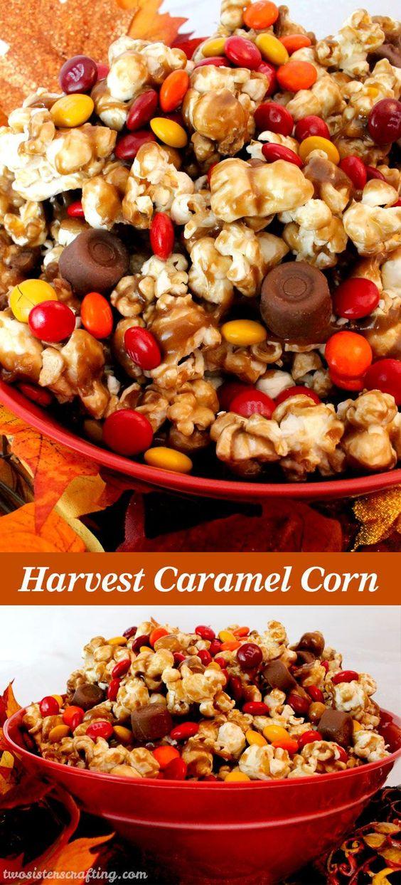 Thanksgiving Desserts: Harvest Caramel Corn