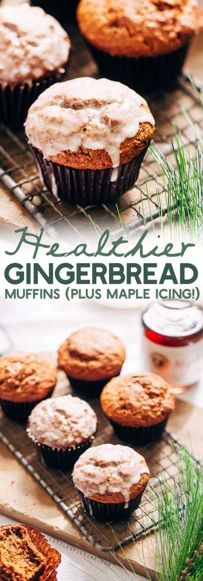 Christmas Gingerbread Recipes: Healthier Gingerbread Muffins