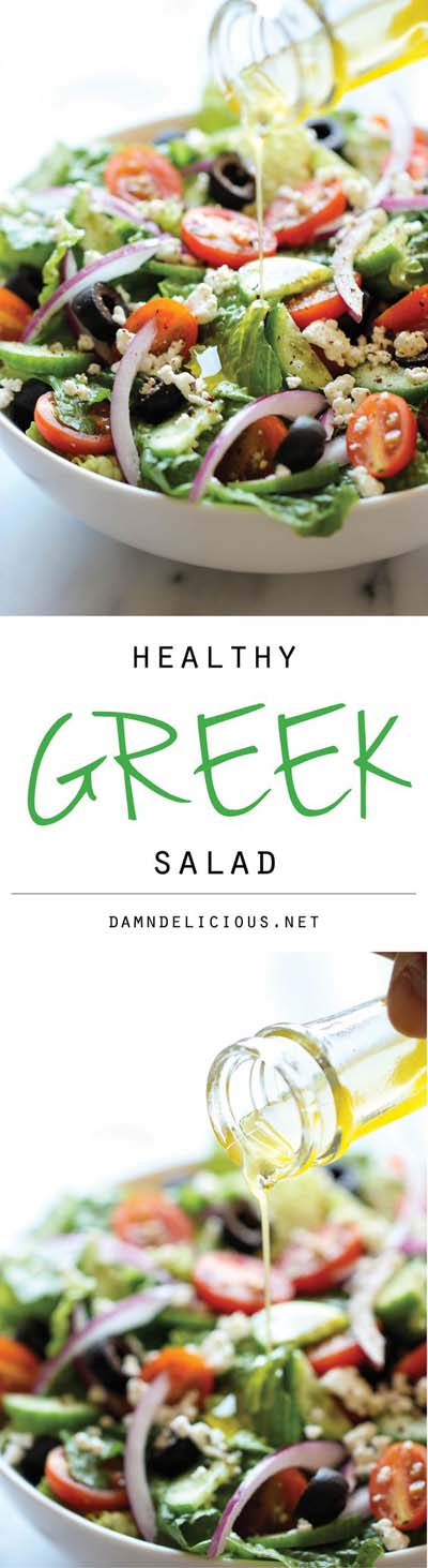 Healthy salad recipes: Healthy Greek Salad