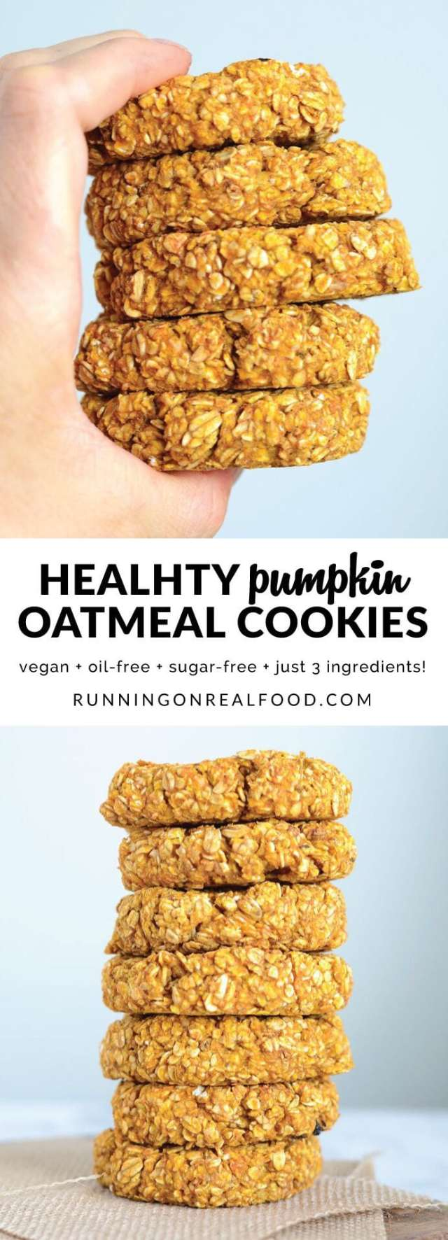 Pumpkin Spice Recipes: Healthy Pumpkin Oatmeal Cookies