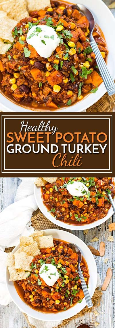 Chili Recipes: Healthy Sweet Potato Ground Turkey Chili