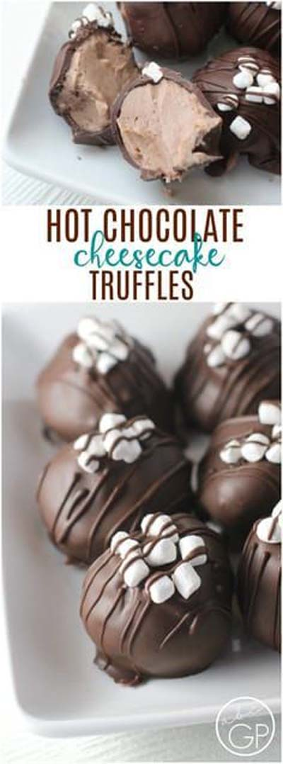 Truffle Dessert Recipes: Hot Chocolate Cheesecake Truffles