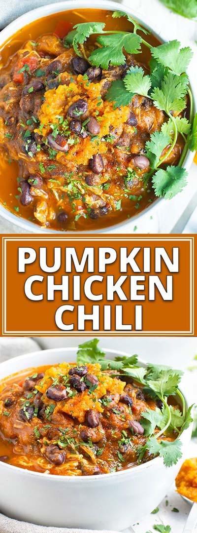 Chili Recipes: Instant Pot Chicken Pumpkin Chili
